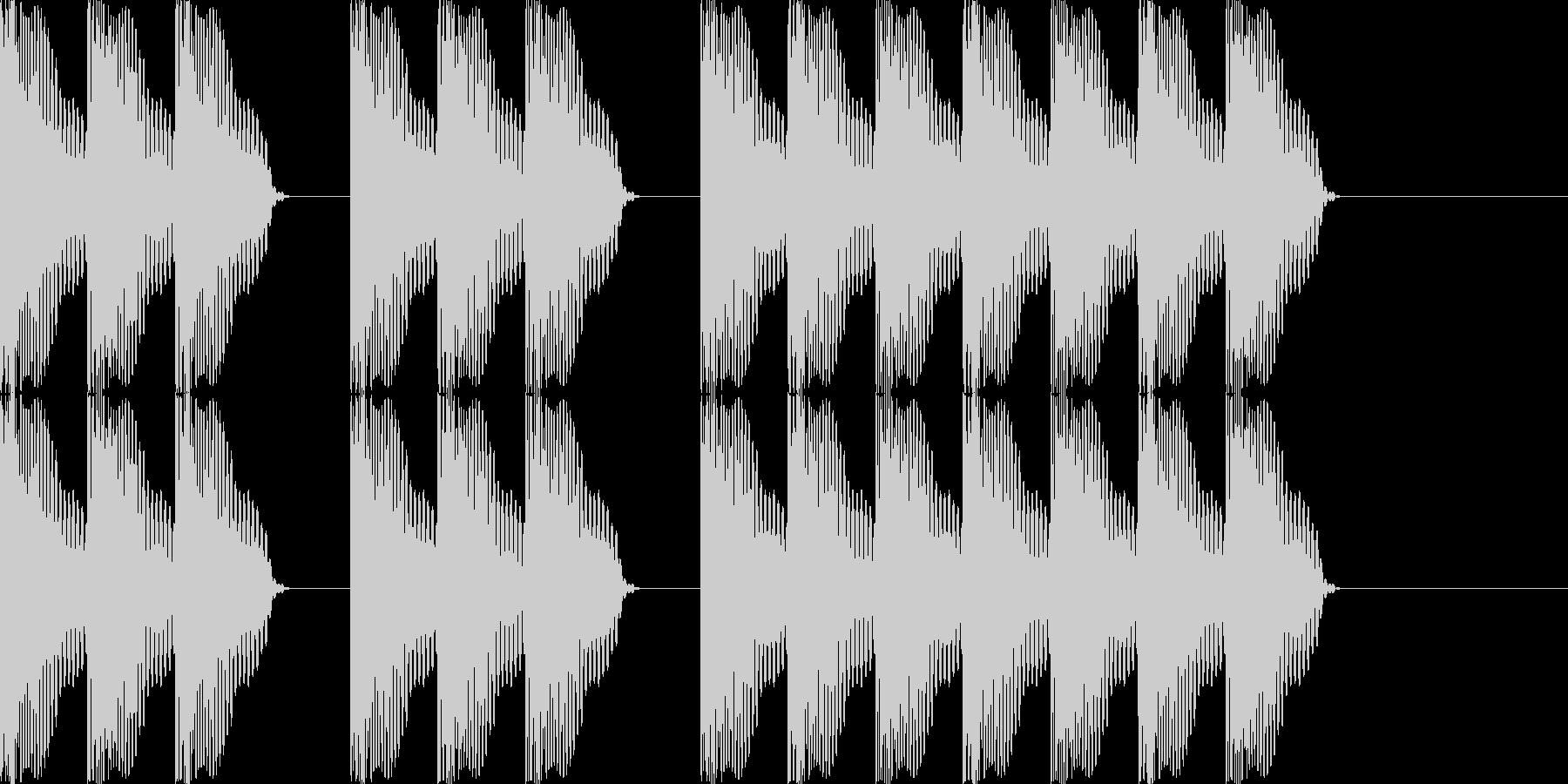 三三七拍子 その3 ドドドン・ドドドンの未再生の波形