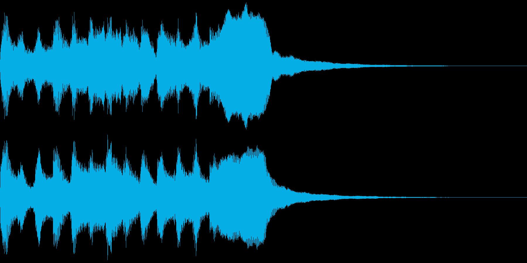 サウンドロゴ、ゴージャス感、verCの再生済みの波形