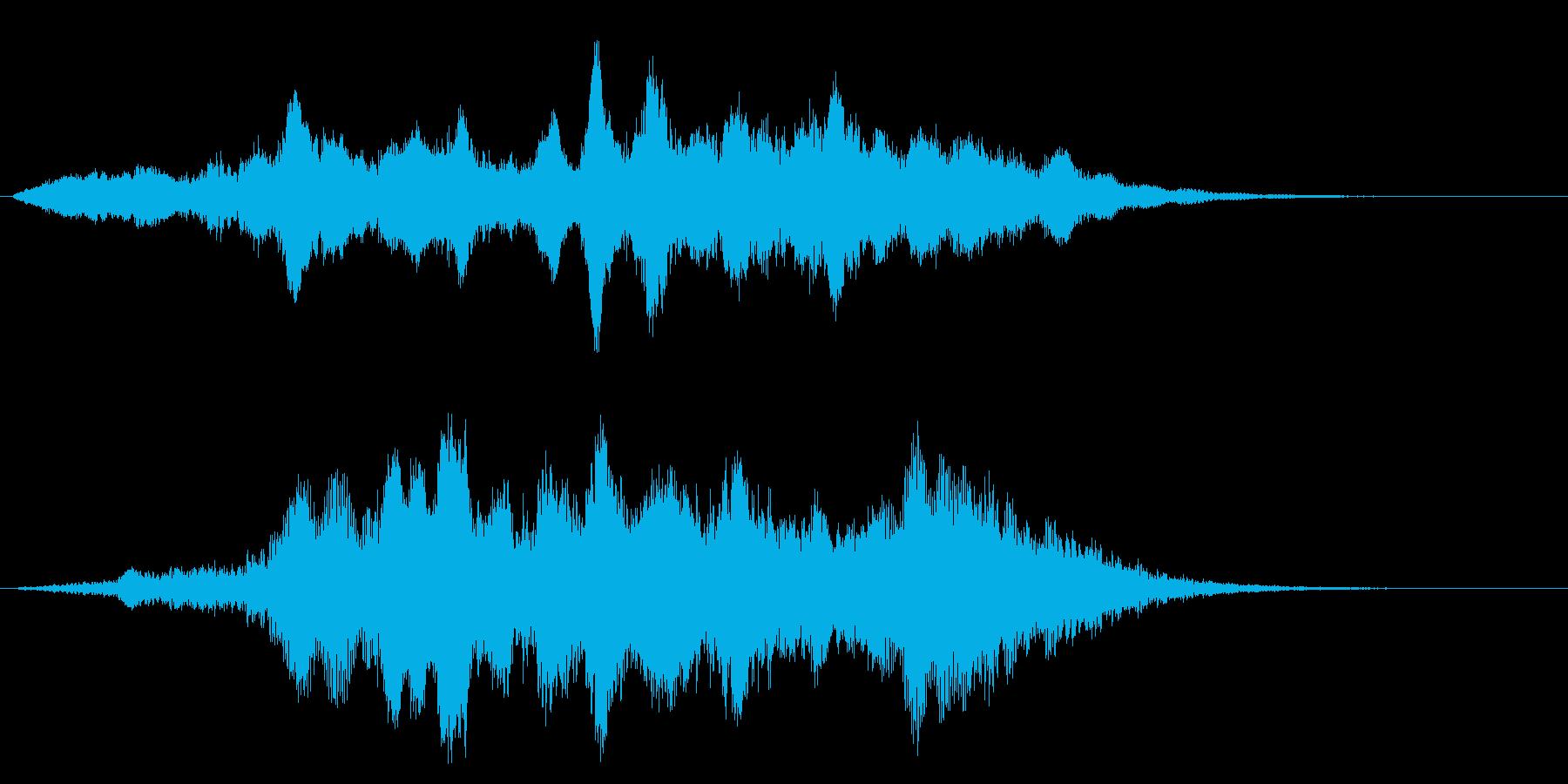 キィィ~ン☆ホラーな効果音の再生済みの波形