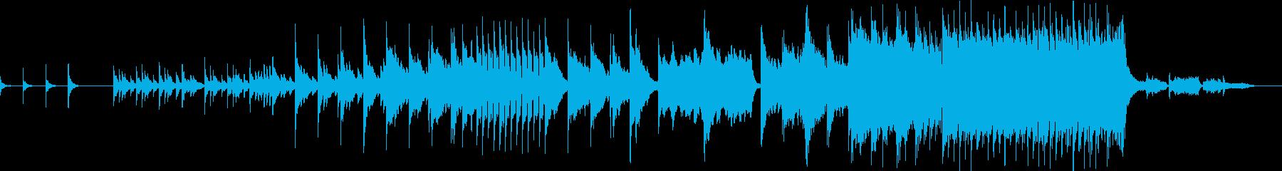 小さく始まり最後は壮大なスケールの音楽の再生済みの波形