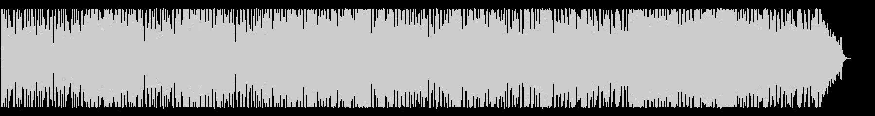 軽快でクールなBGMの未再生の波形