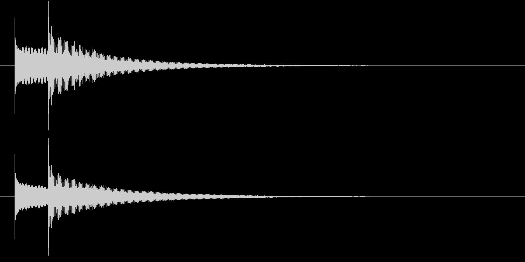 ピンポン(ドアホンの音)、正解の音の未再生の波形