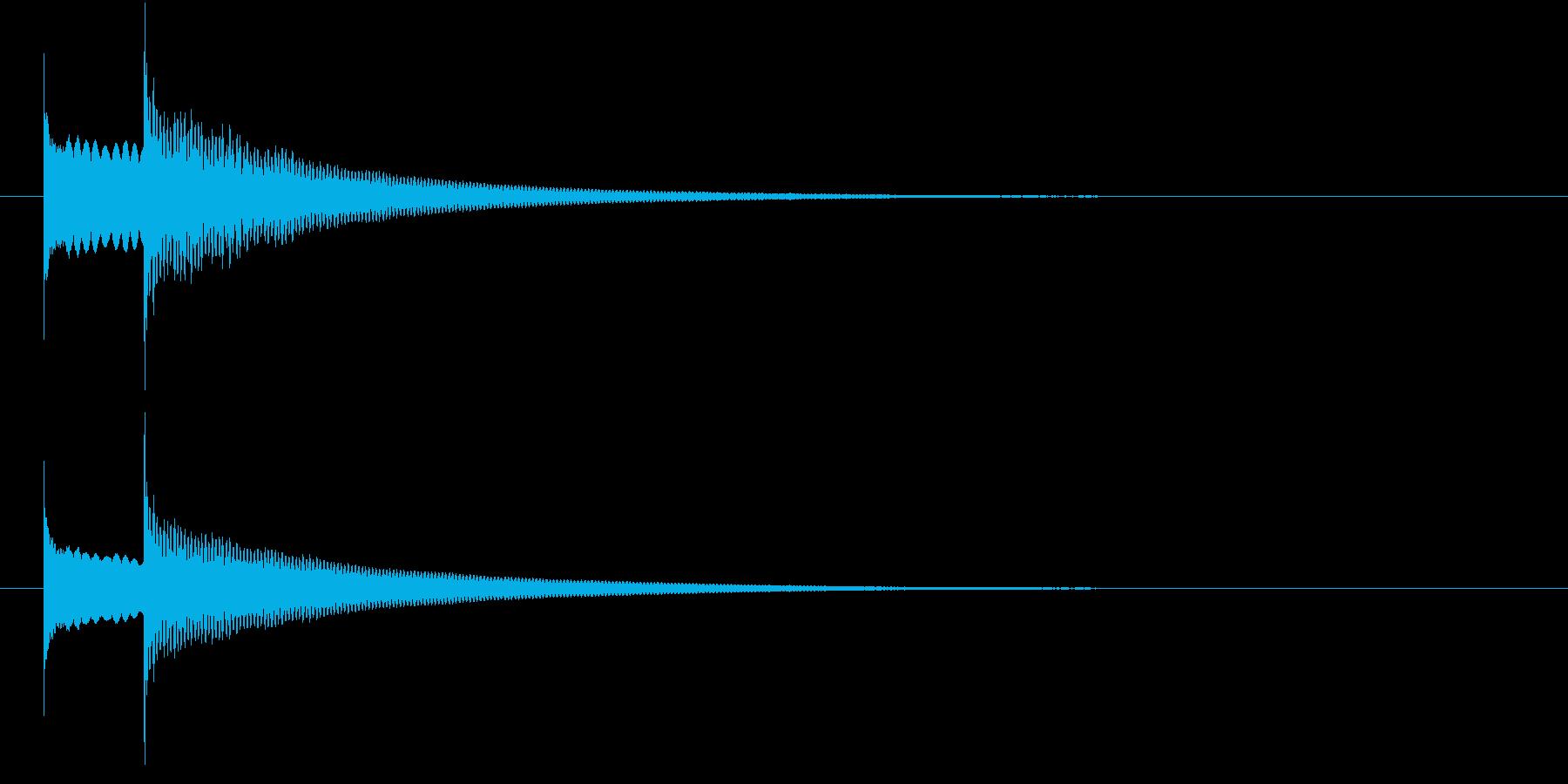 ピンポン(ドアホンの音)、正解の音の再生済みの波形