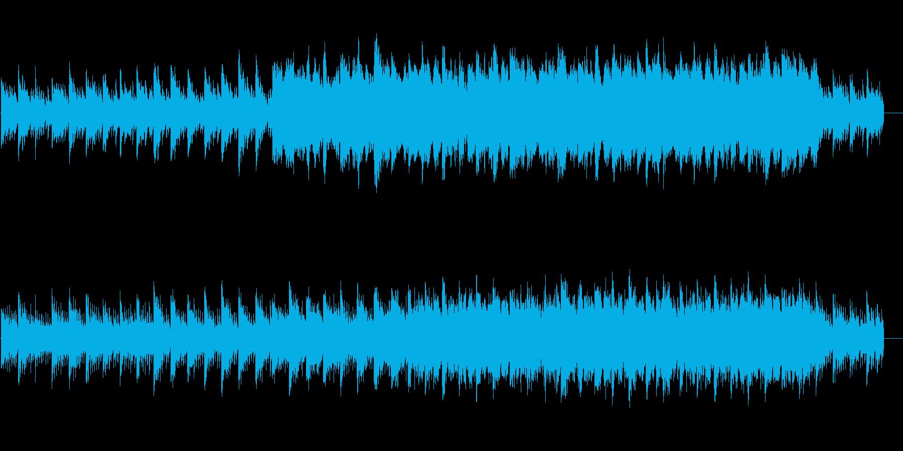 恋愛映画のオープニング風のピアノ曲の再生済みの波形