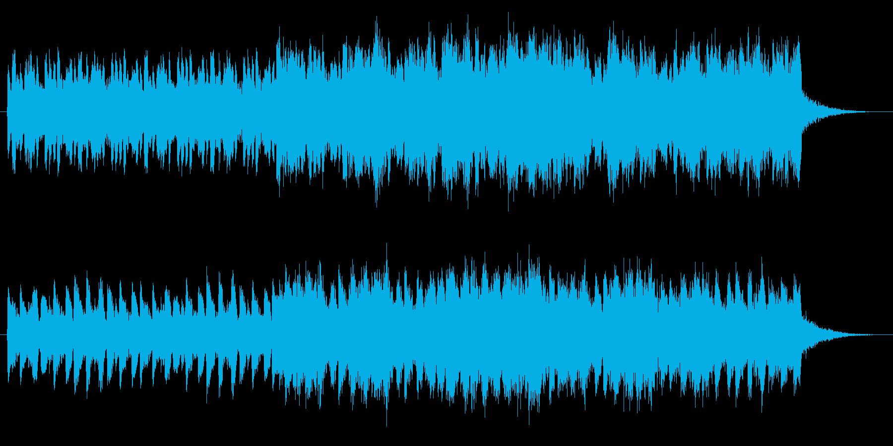 ホラー映画の様な奇妙な声の合唱BGMの再生済みの波形