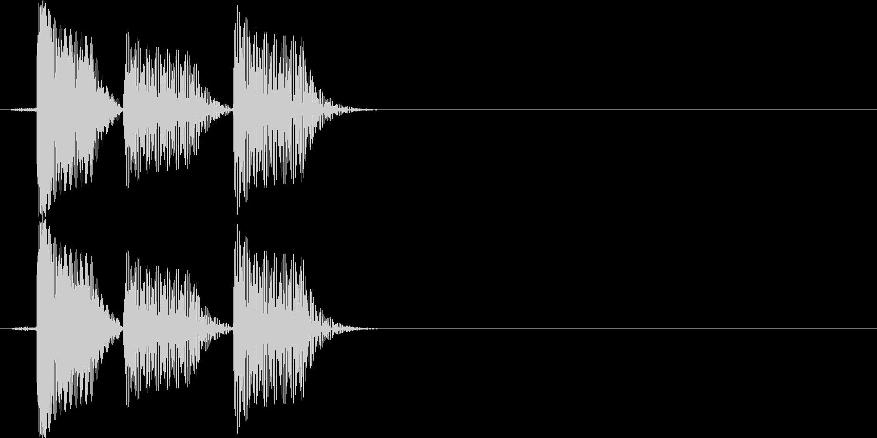 スマホアプリなどに使えるSE イメージ…の未再生の波形
