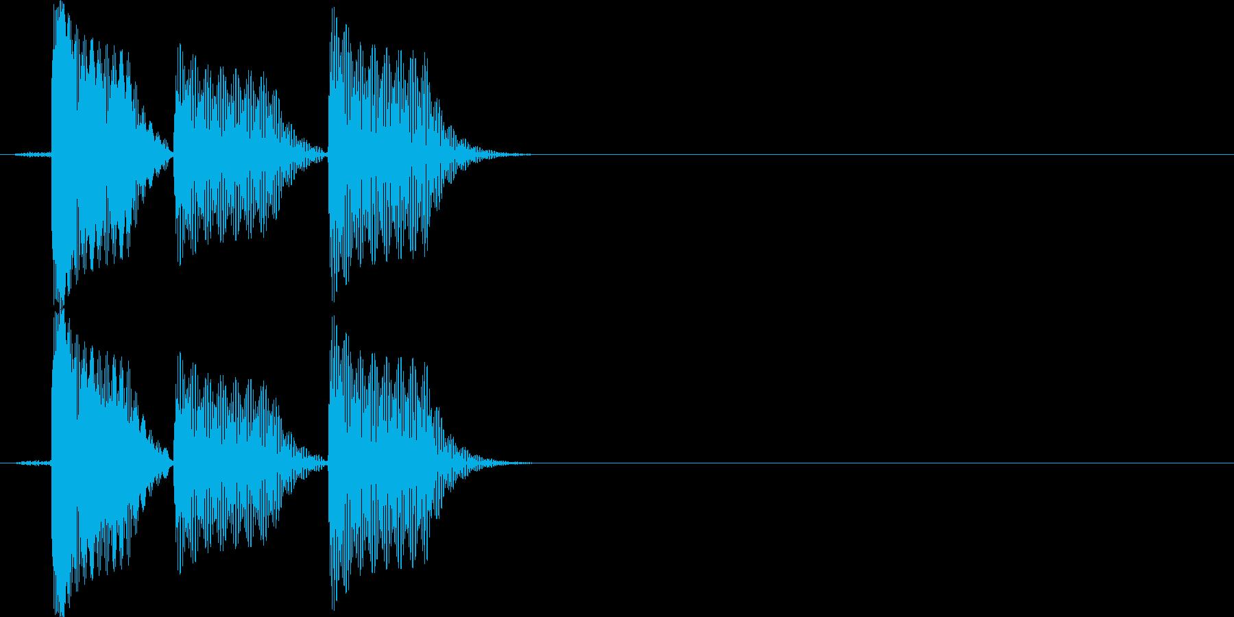 スマホアプリなどに使えるSE イメージ…の再生済みの波形