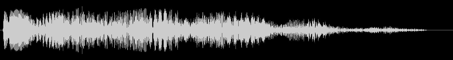 シンセのオープニングに使われそうな電子音の未再生の波形