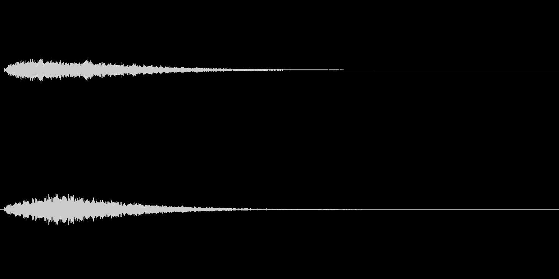 きらめく感じの ロード システムSEの未再生の波形
