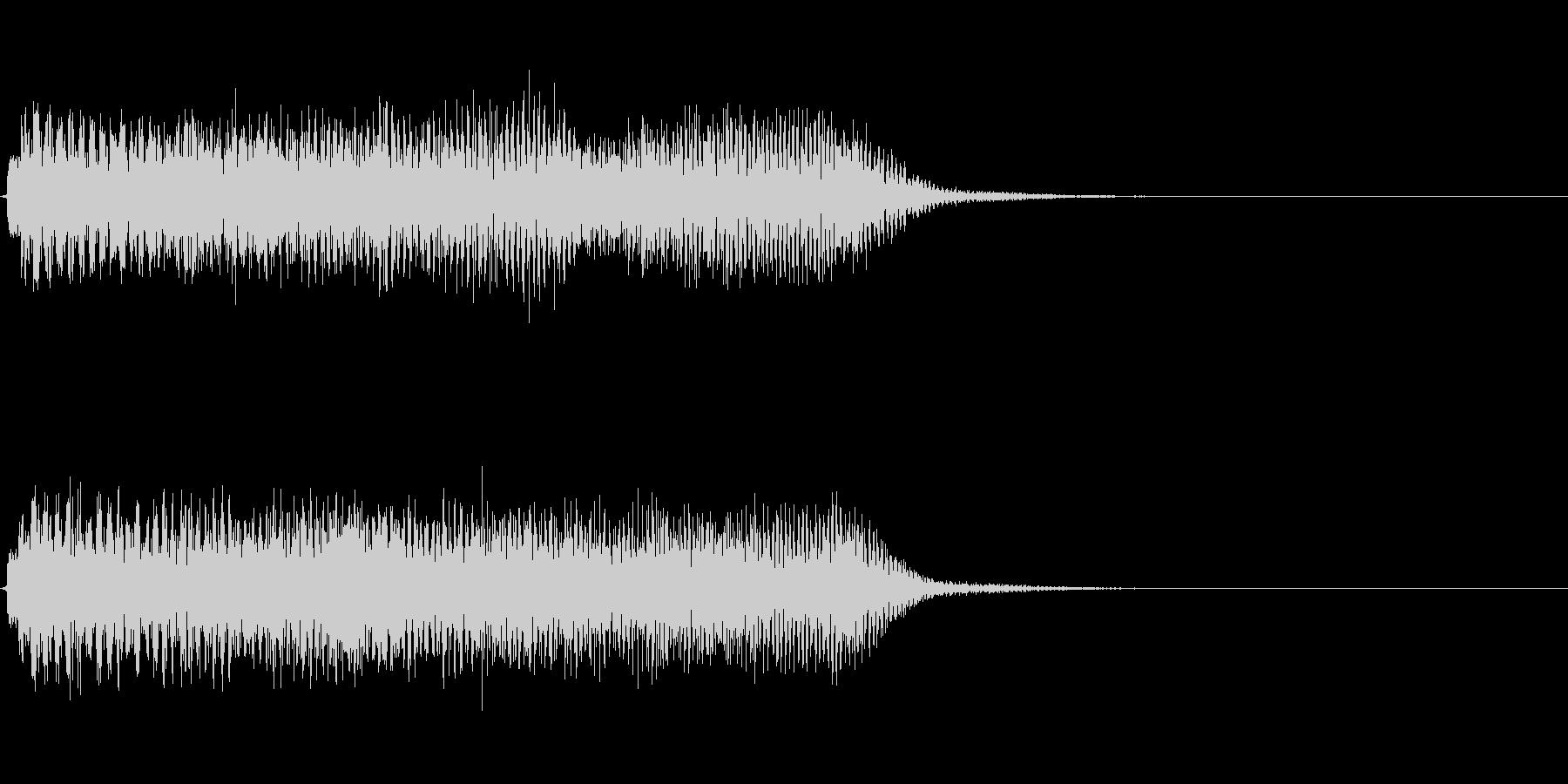 約5秒 アイキャッチ、サウンドロゴの未再生の波形