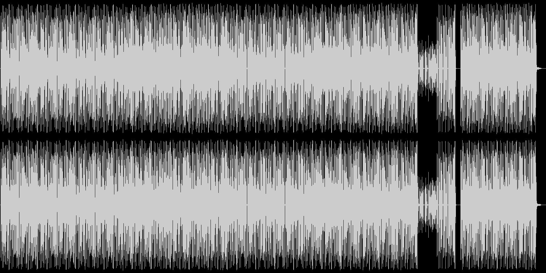 軽快/ヘビー/ヒップホップビートの未再生の波形