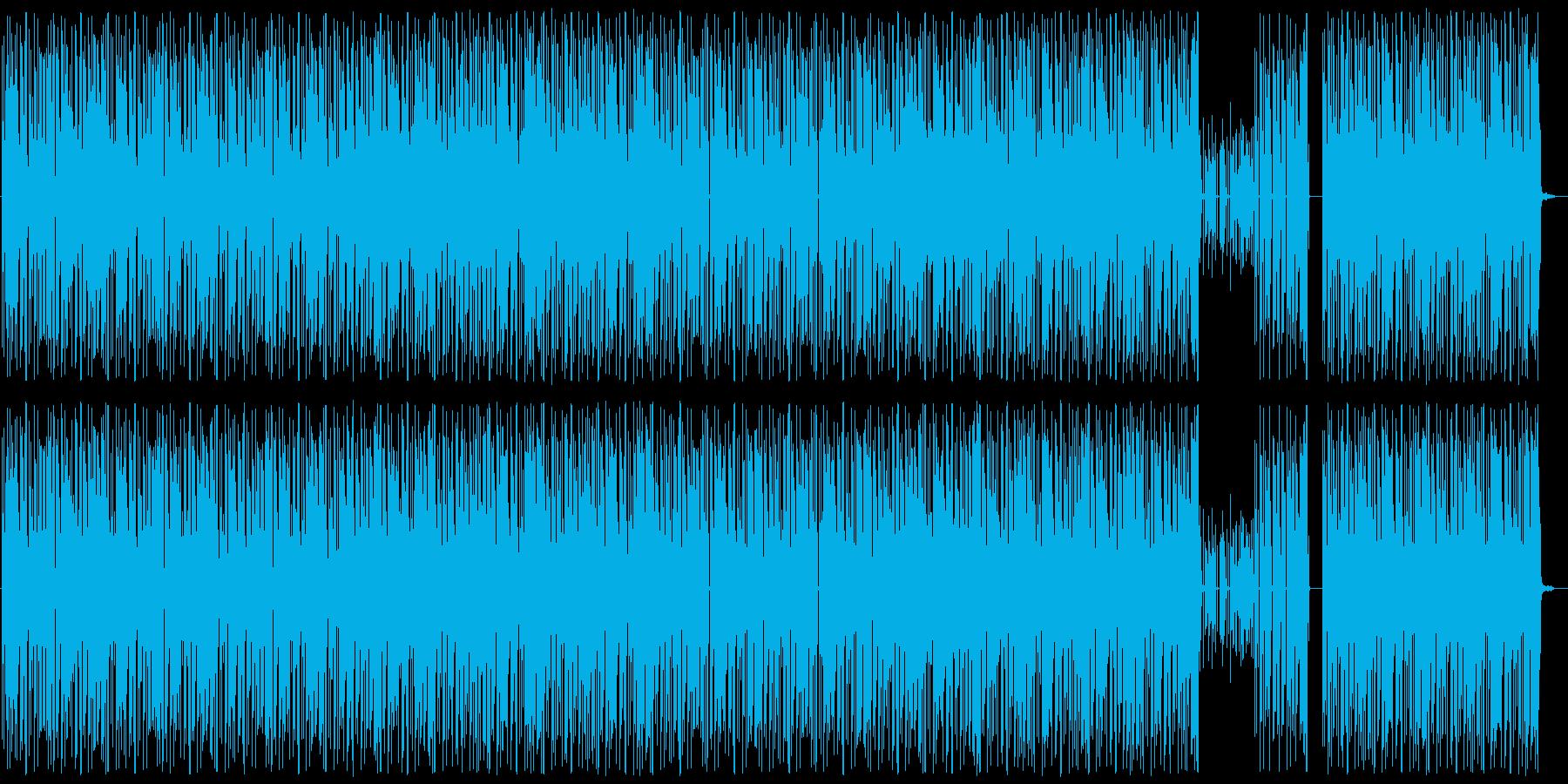 軽快/ヘビー/ヒップホップビートの再生済みの波形