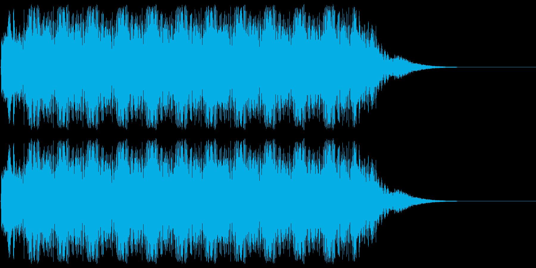 アニメにありそうなバルカン砲の再生済みの波形