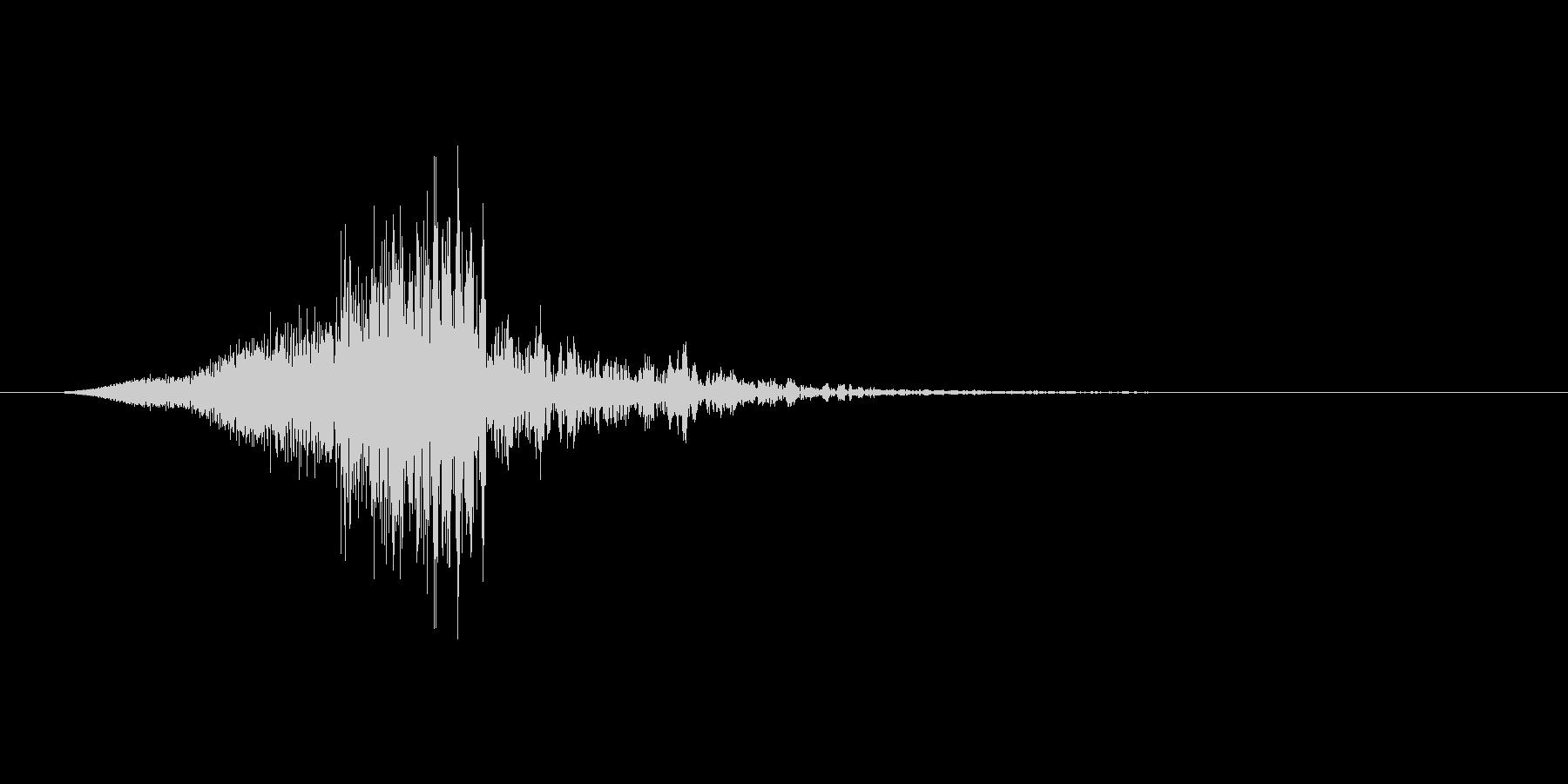 シュン↓(キャンセル音、閉じる、止める)の未再生の波形