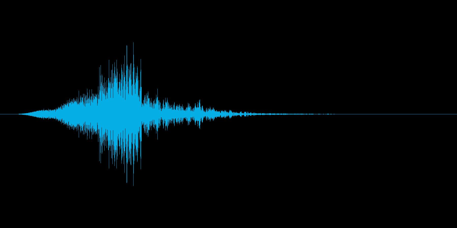 シュン↓(キャンセル音、閉じる、止める)の再生済みの波形