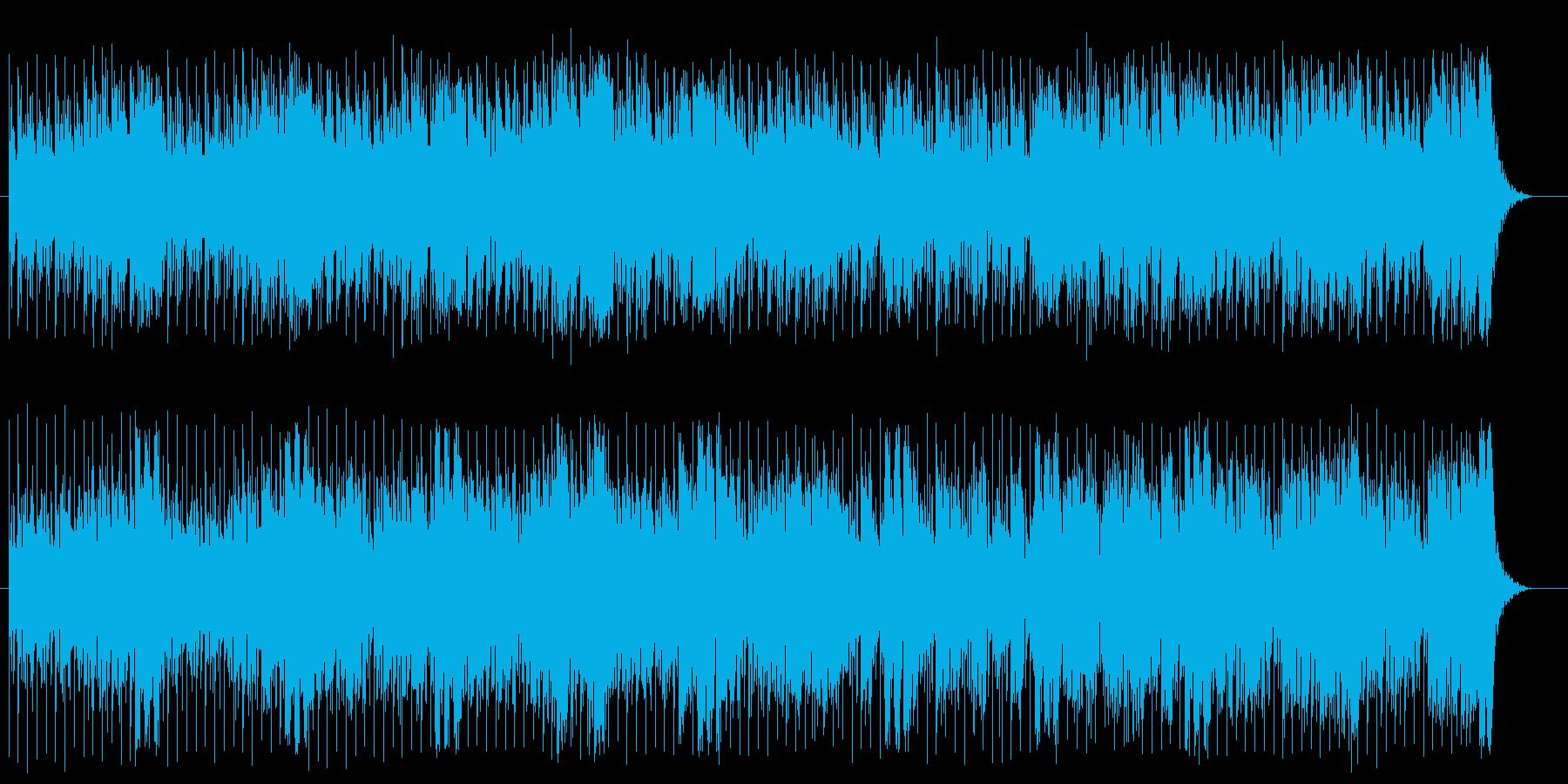 思わず体を動かしたくなるミュージックの再生済みの波形