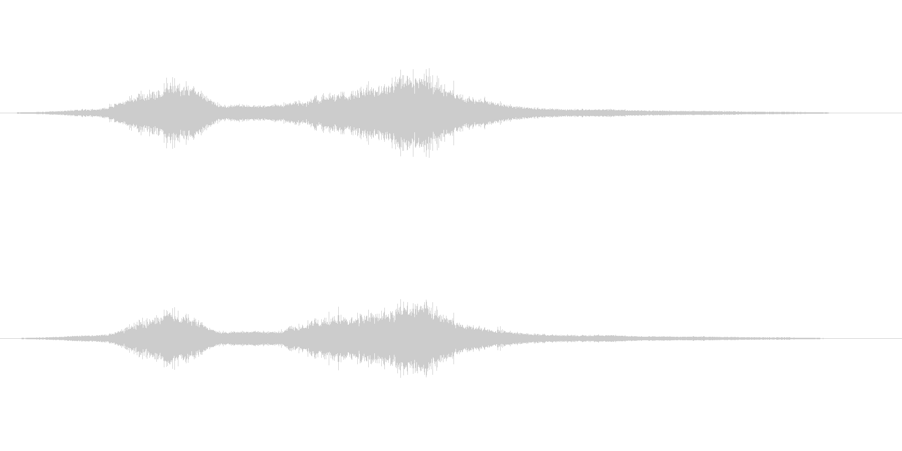 波の音(大波のイメージ)の未再生の波形