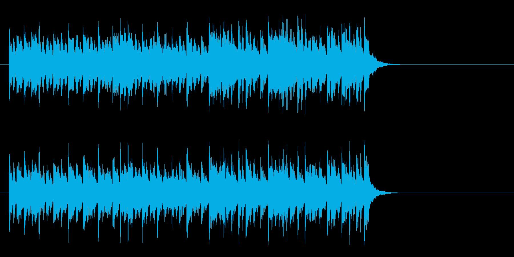 感動の終わりを迎える楽曲(イントロ)の再生済みの波形