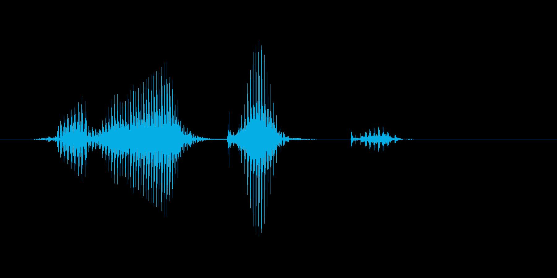 フリーキックの再生済みの波形