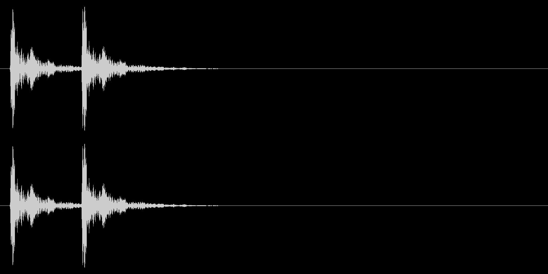 音侍「カカン」歌舞伎などで使う拍子木の音の未再生の波形