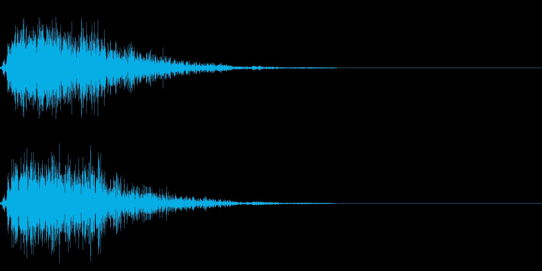 ストライク!ボーリングの効果音 01の再生済みの波形