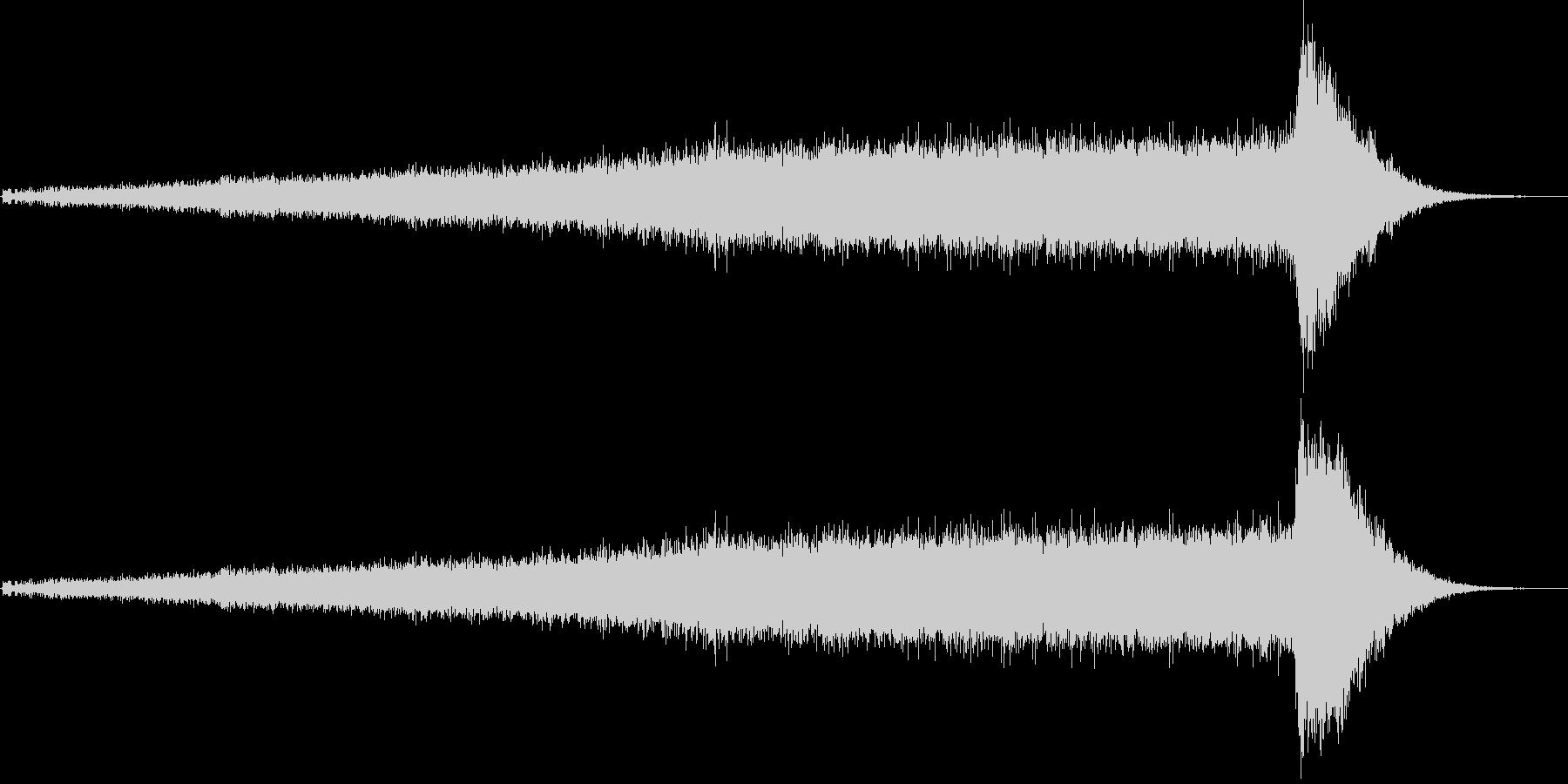 ワープ音(宇宙船、SFイメージ)1の未再生の波形