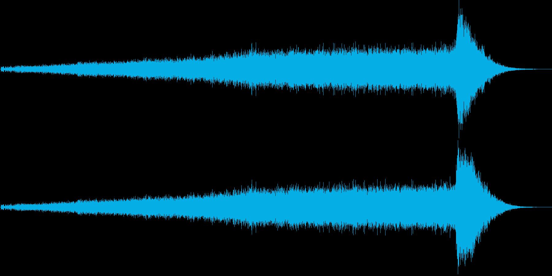 ワープ音(宇宙船、SFイメージ)1の再生済みの波形