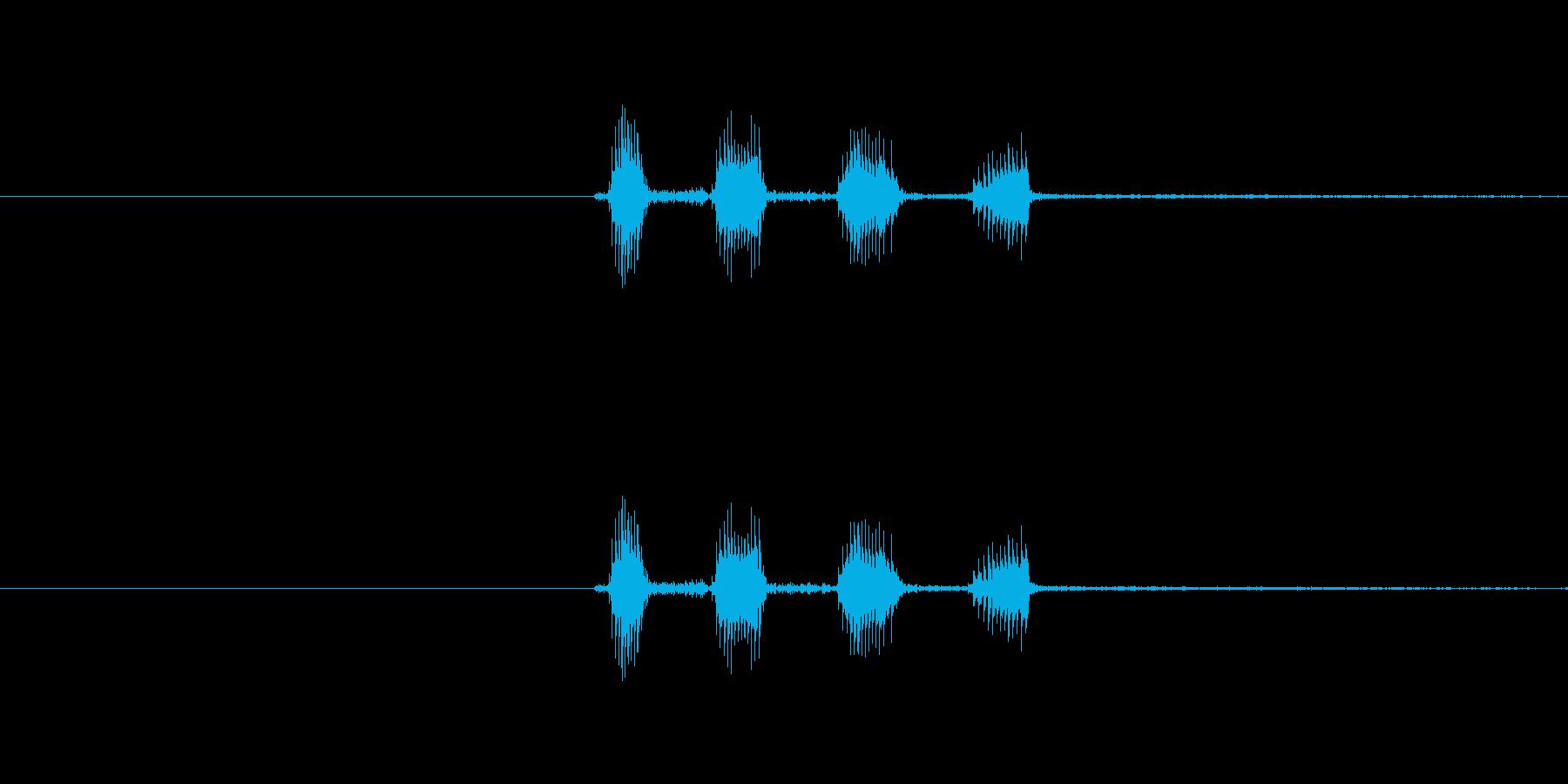 キャラクターの笑い声(キャハハ)高音の再生済みの波形