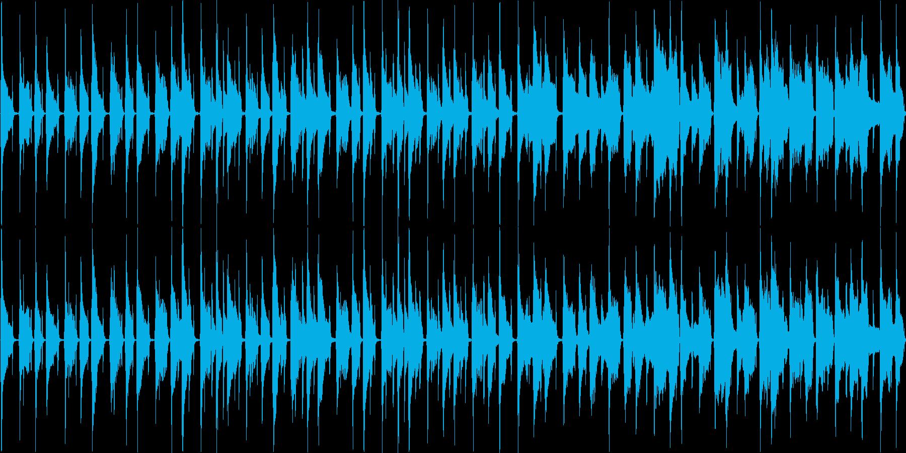 【ループ】ウクレレとリコーダーののんびりの再生済みの波形