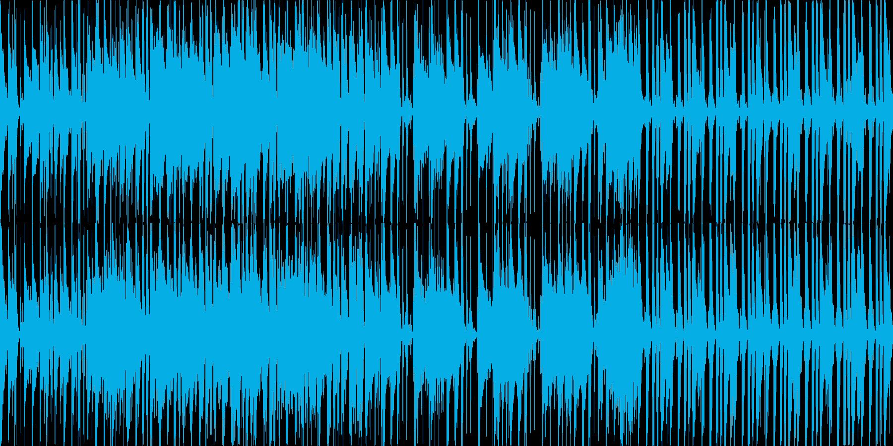 【ループ】気持ちが弾む軽快なアコースティの再生済みの波形