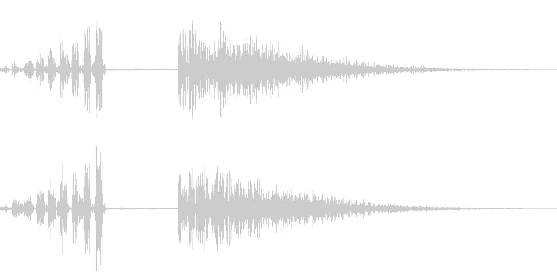ホラー系アタック音107の未再生の波形
