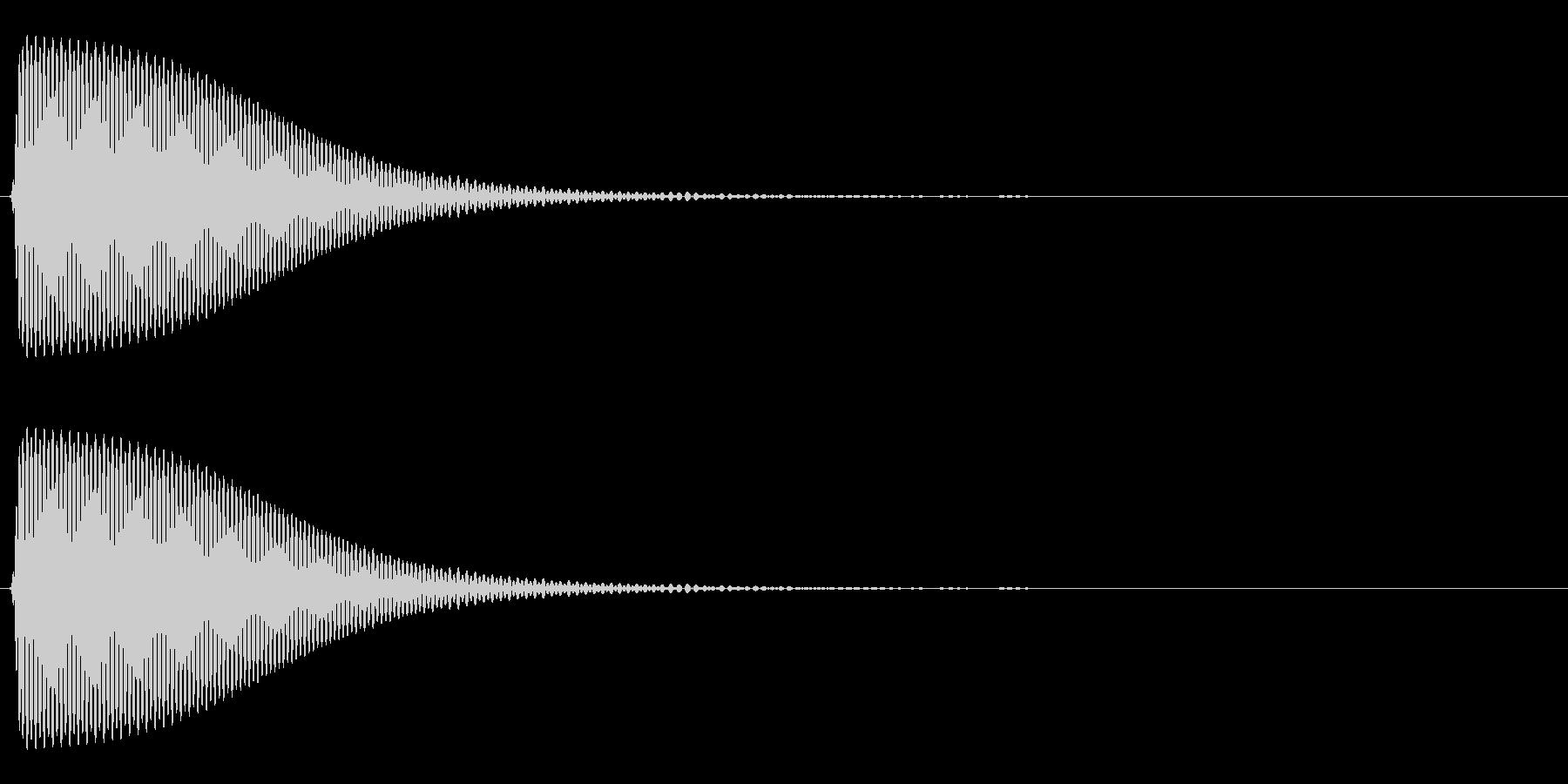 Com ファミコンなどのコマンド音 14の未再生の波形