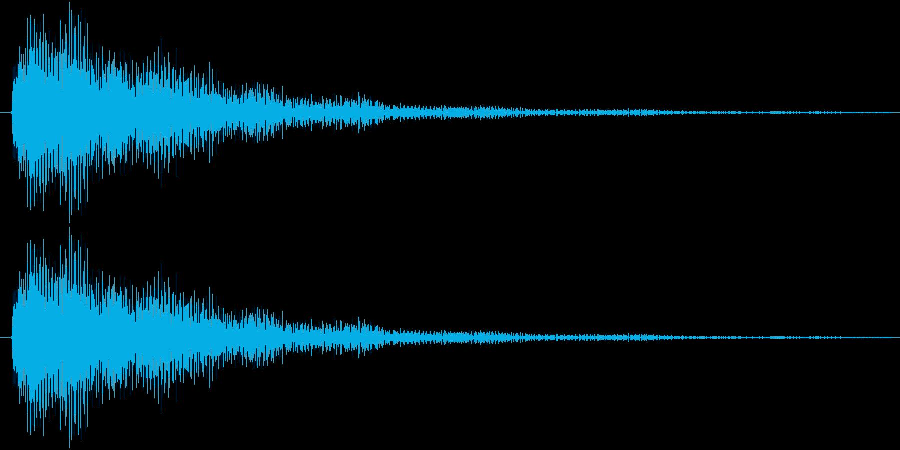 テローン(ロゴ)の再生済みの波形