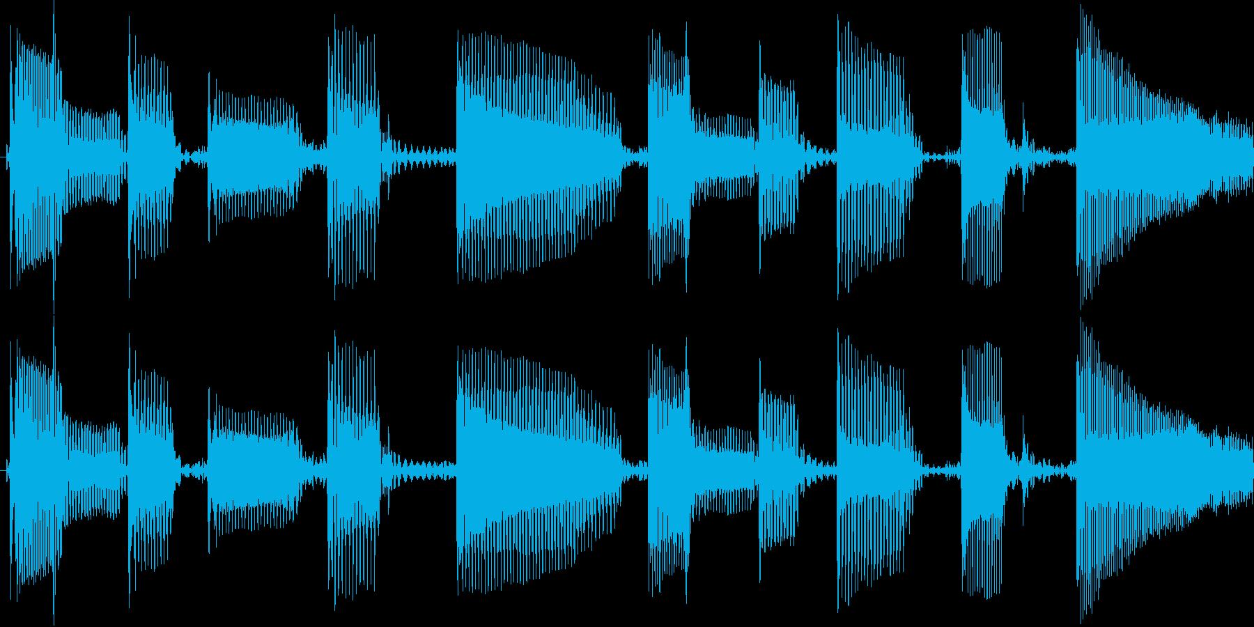 クールでかっこいいスラップベースソロ素材の再生済みの波形