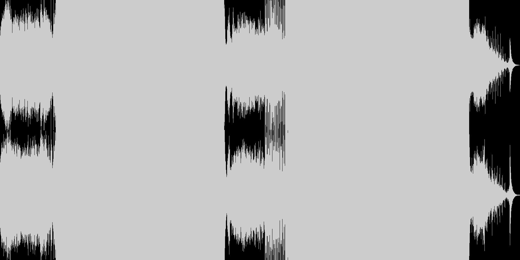 幻覚的なサウンドのトランスの未再生の波形