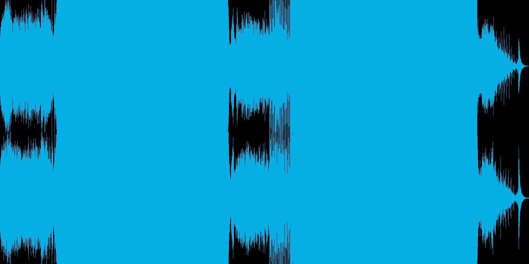 幻覚的なサウンドのトランスの再生済みの波形