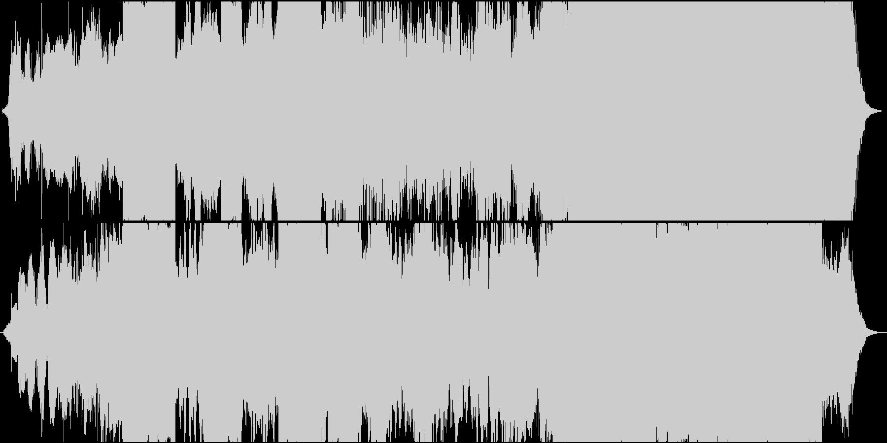 実験音楽/電子音/ホラーの未再生の波形