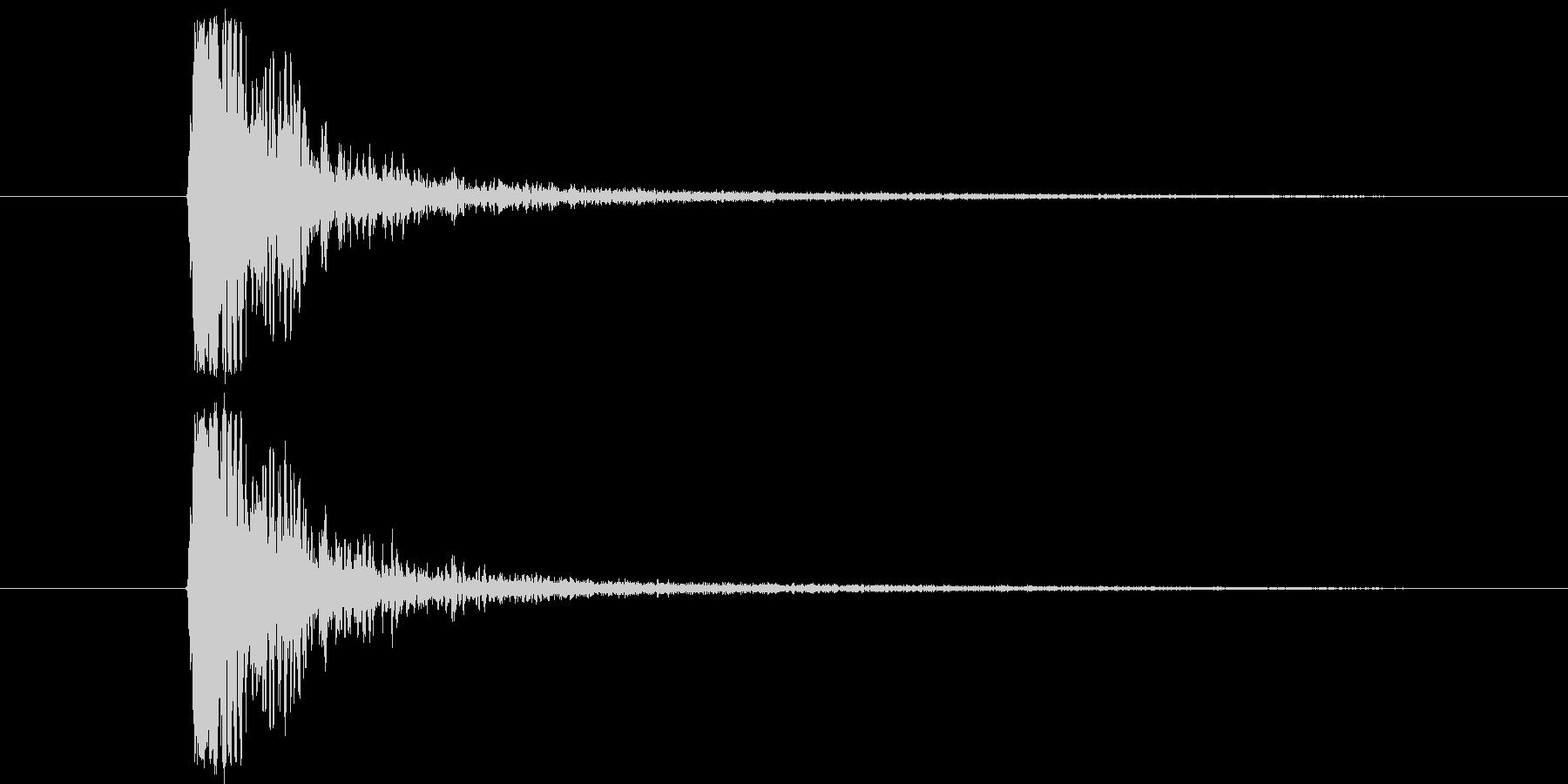 177_たたく音1の未再生の波形