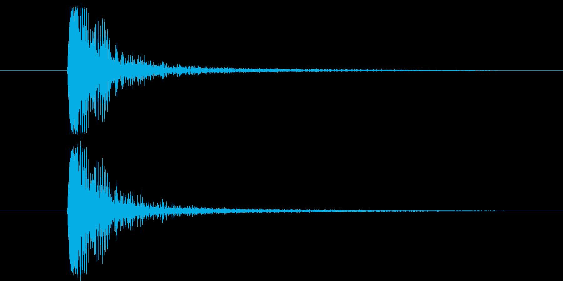 177_たたく音1の再生済みの波形