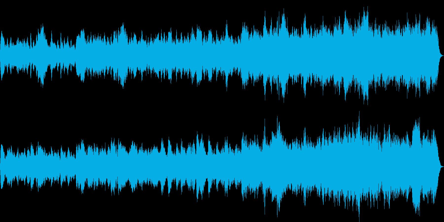 フルートとチェンバロの中世ルネッサンス風の再生済みの波形