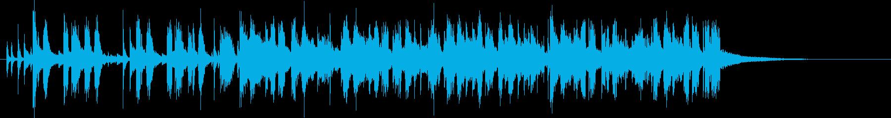 60年代風サスペンス映画のオープニングの再生済みの波形