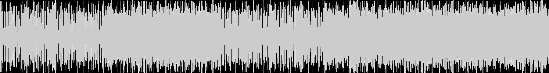 緊迫感のあるBGMアップテンポな曲です。の未再生の波形