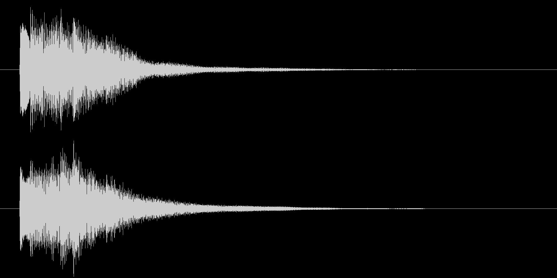 回想や夢の中に入る音 ポロロロンの未再生の波形