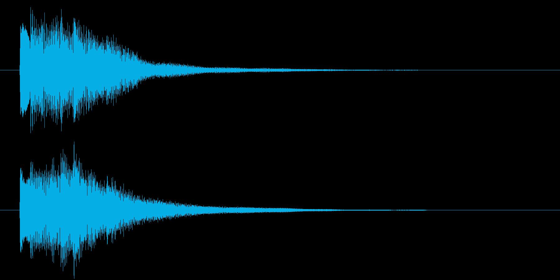 回想や夢の中に入る音 ポロロロンの再生済みの波形