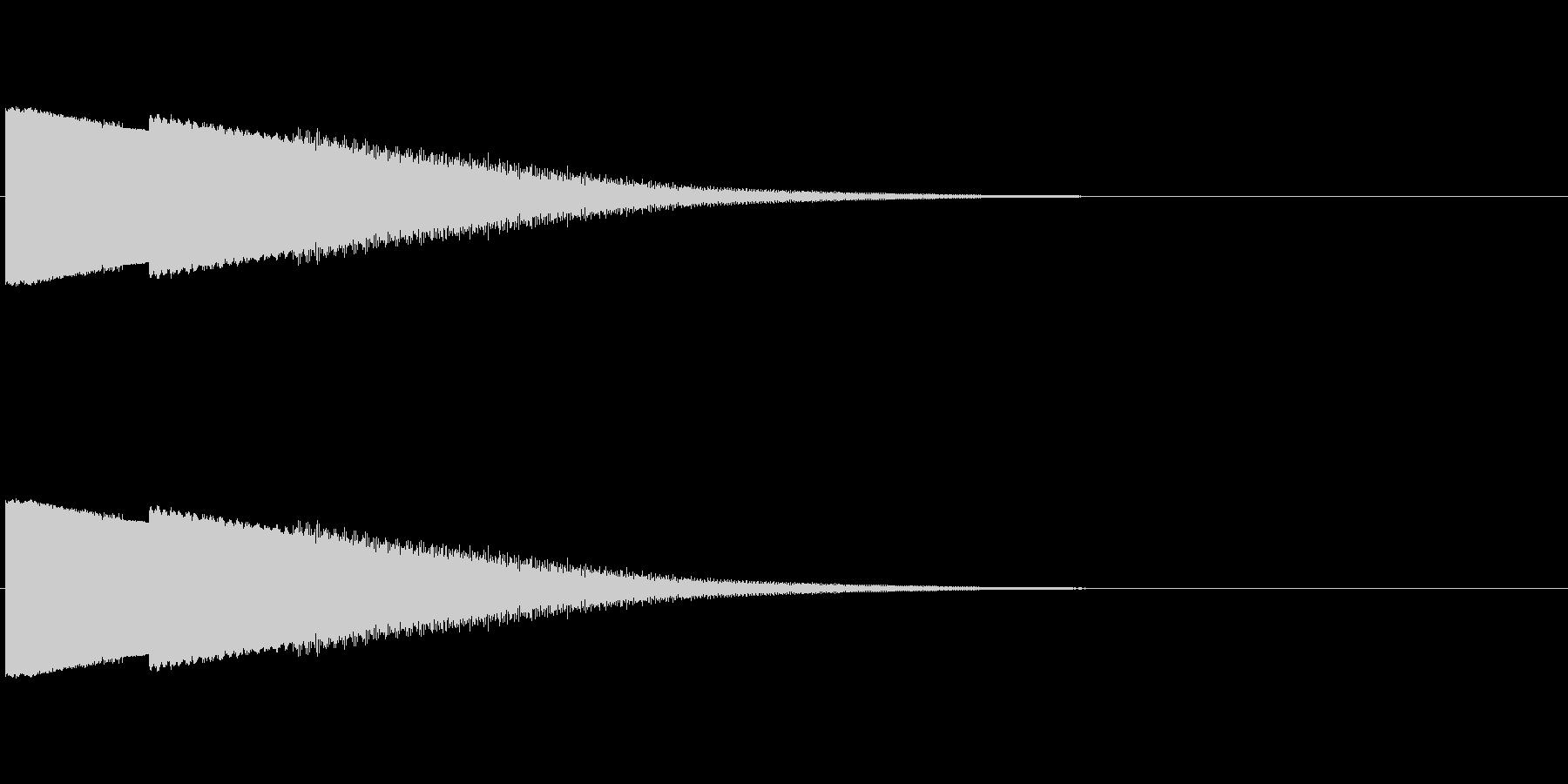 ピュー 下降の未再生の波形