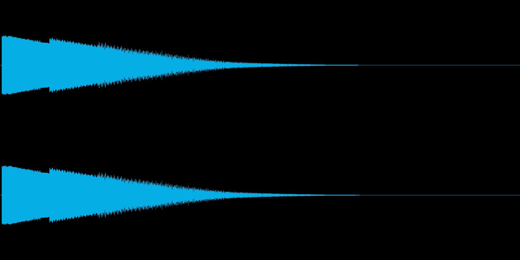 ピュー 下降の再生済みの波形