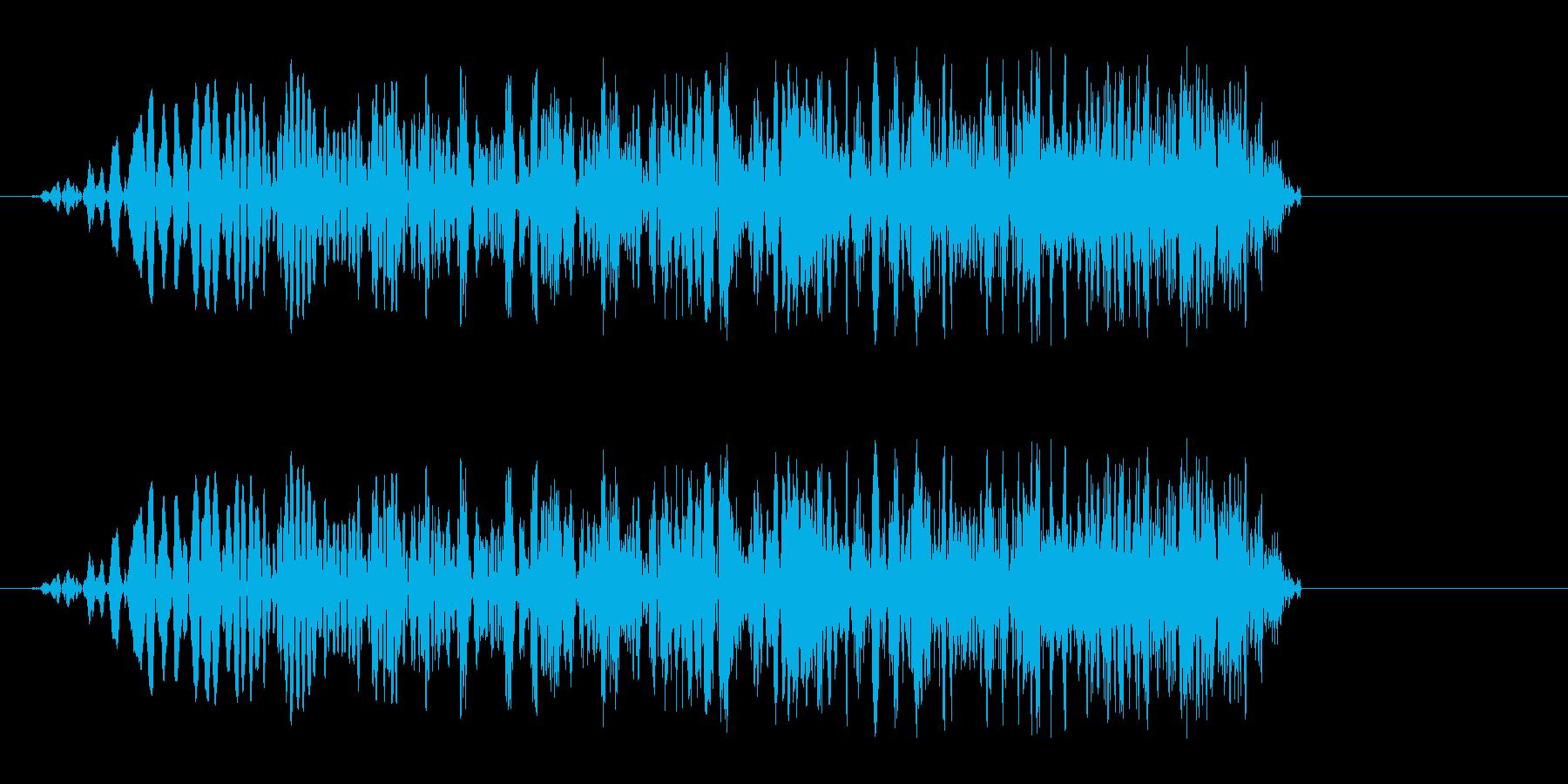 シュシュー↑(素早く移動する時の音)の再生済みの波形