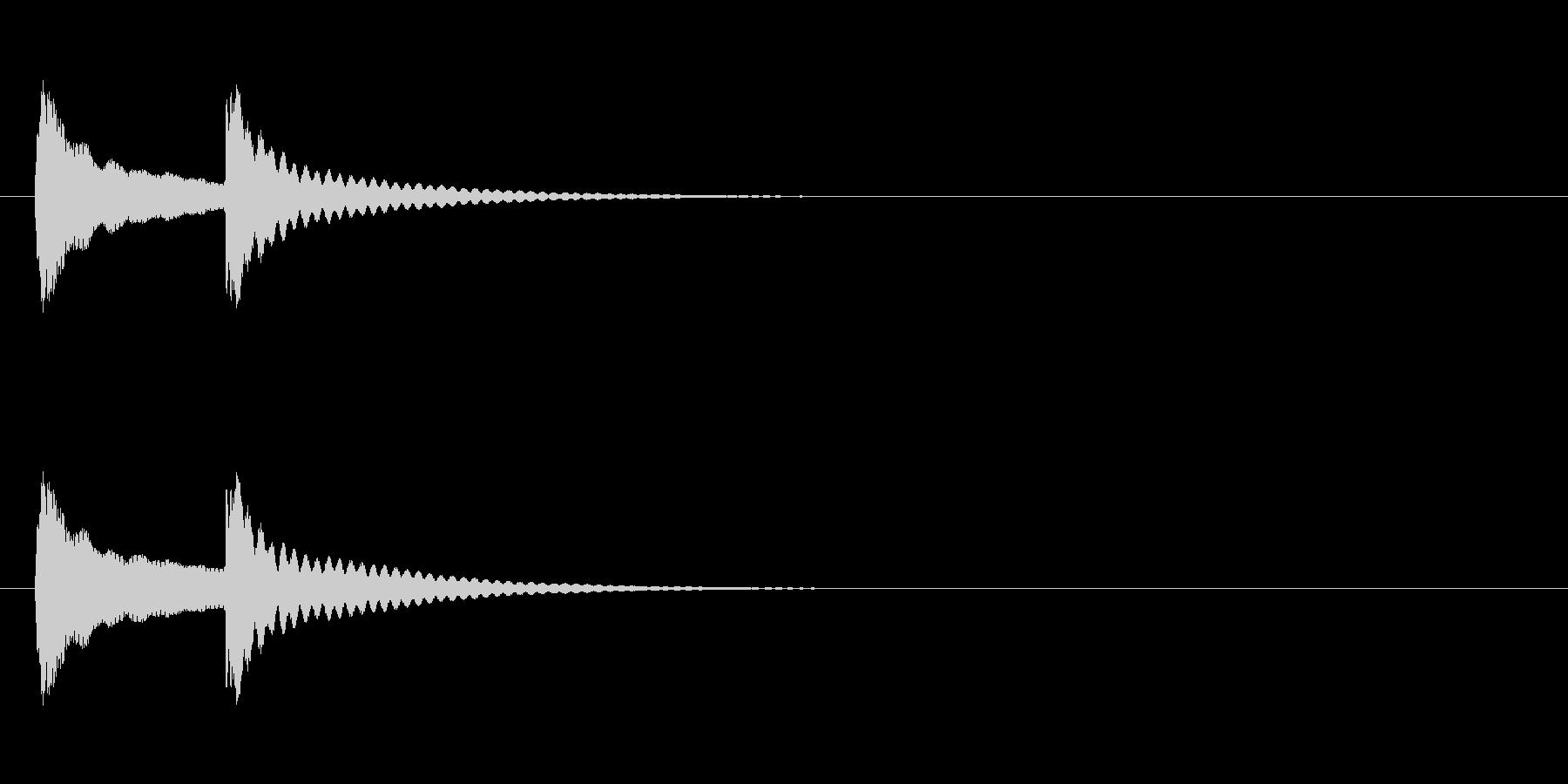 可愛さのあるアプリタッチ音ですの未再生の波形
