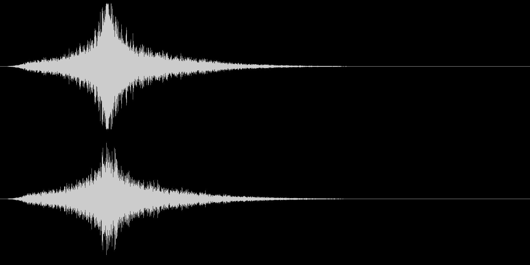 宇宙船・飛翔体#4通過 中央の未再生の波形