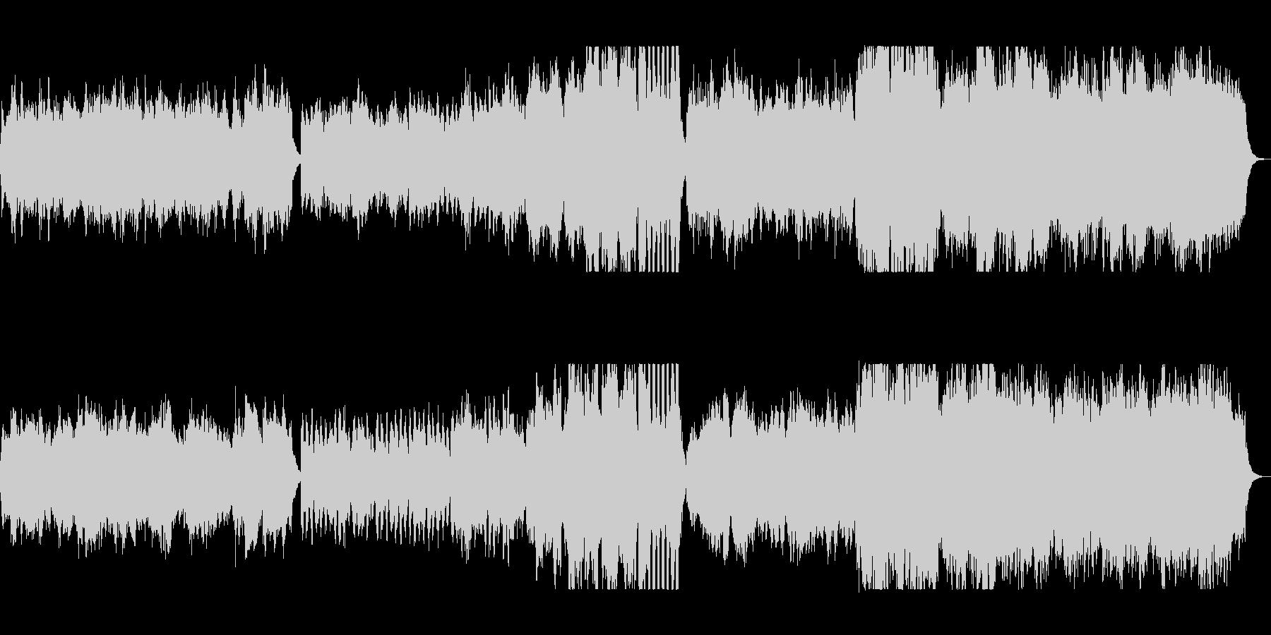 優しい安らぎの子守歌風クラシカルバラードの未再生の波形
